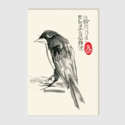 Холст Презрительная ворона