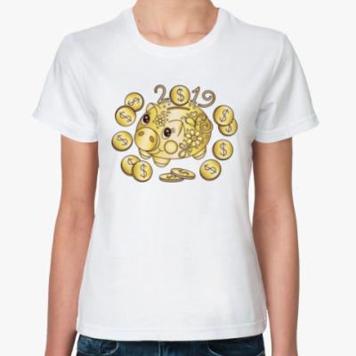 Классическая футболка Золотая копилка 2019