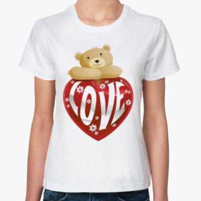 Классическая футболка Bear Love