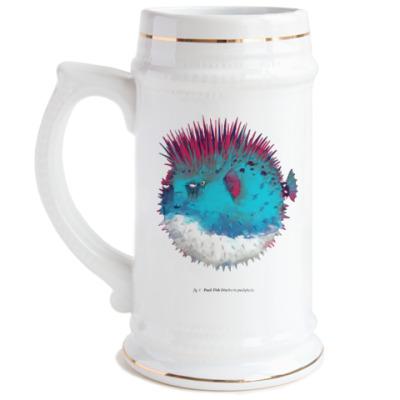 Пивная кружка Брутальная рыба панк Punk fish