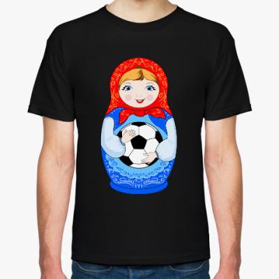 Футболка Матрёшка-футболист
