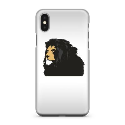 Чехол для iPhone X Грозный лев