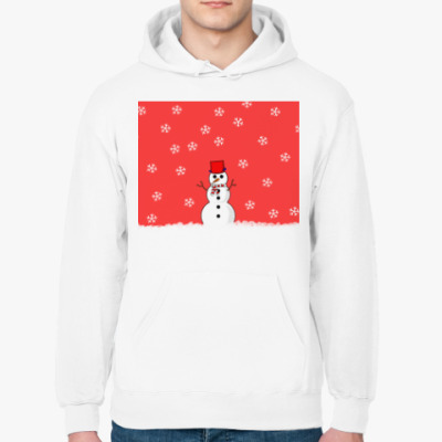 Толстовка худи Снеговик