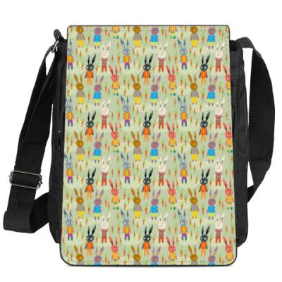 Сумка-планшет Цветные зайцы