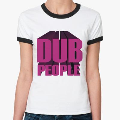 Женская футболка Ringer-T dubstep