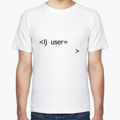 Футболка  'lj user'