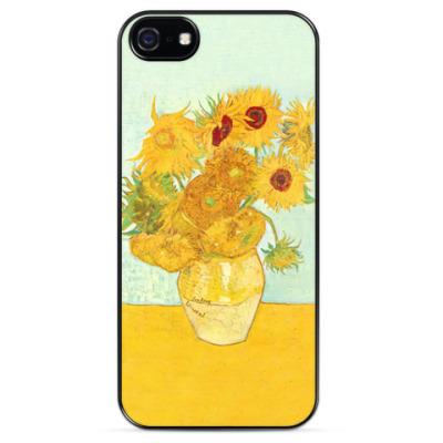 Чехол для iPhone Подсолнухи Ван Гога для Эми