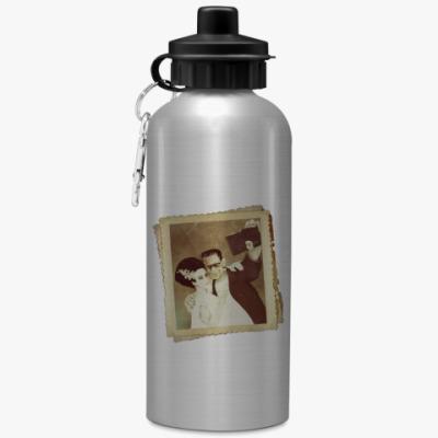 Спортивная бутылка/фляжка Монстр Франкенштейна и невеста