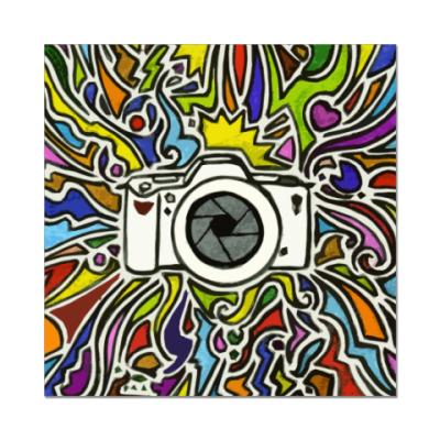 Наклейка (стикер) vectorized camera