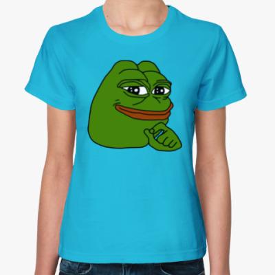 Женская футболка Лягушонок Пепе
