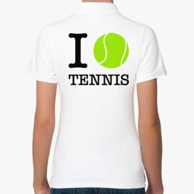 Женская рубашка поло I love tennis