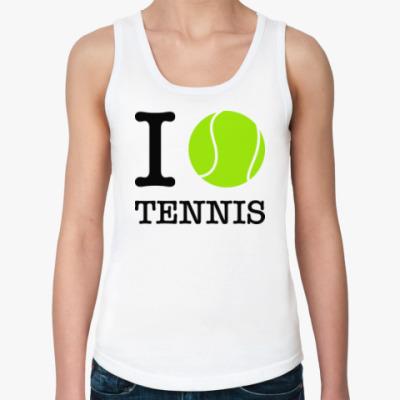 Женская майка I love tennis
