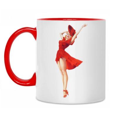 Кружка Девушка в красном