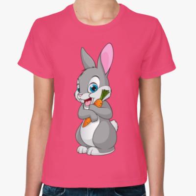 Женская футболка Кролик