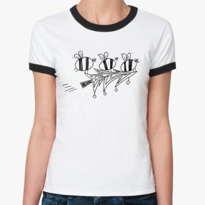 Женская футболка Ringer-T Пчёлы