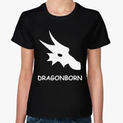 Женская футболка  dragonborn
