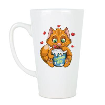Чашка Латте Рыжий кот