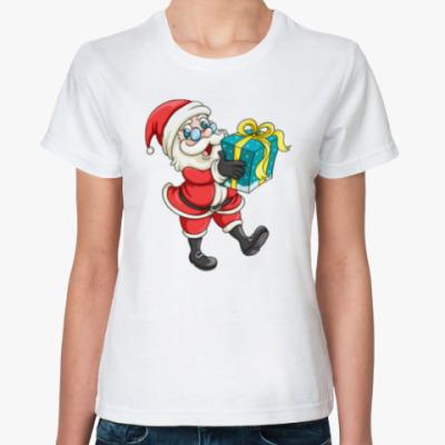 Классическая футболка Cute Santa