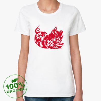Женская футболка из органик-хлопка Символ года