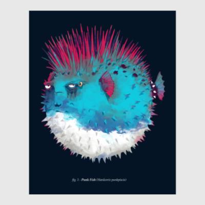 Постер Брутальная рыба панк Punk fish