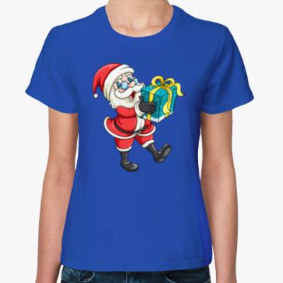 Женская футболка Cute Santa